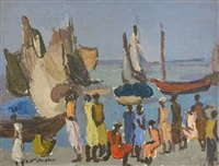 sur le port à haiti by carlo jean-jacques