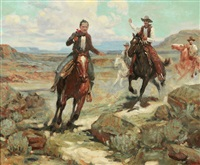 pursuit of a cattle thief by frank tenney johnson