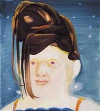 albino with wig by dana schutz