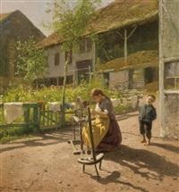 industrious maid by hermann herzog