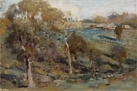 hillside landscape by theodore penleigh boyd