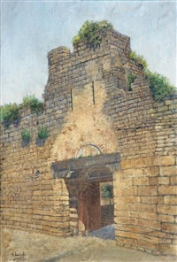 gate of city wall by ahmet ziya akbulut
