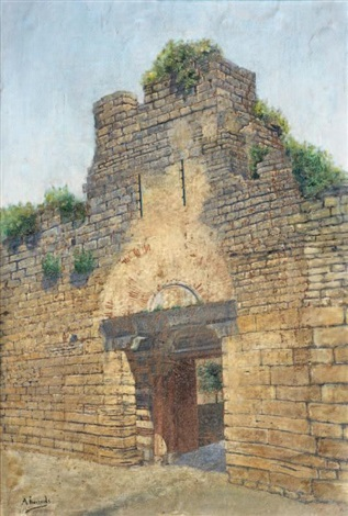 gate of city wall by ahmet ziya akbulut