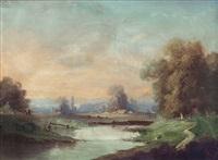 paesaggio con viandanti by giacinto bo