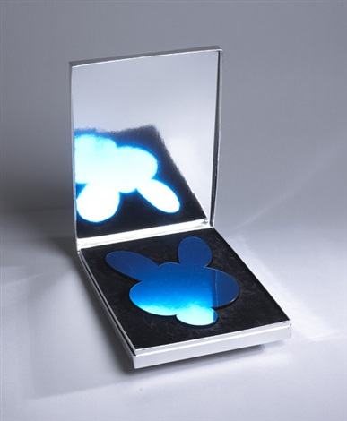 kangaroo mirror box blue by jeff koons