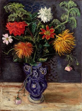 blumen in vase by arthur kaufmann