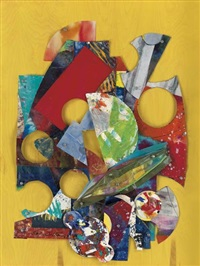 by yellow wall (a collage) by sam gilliam