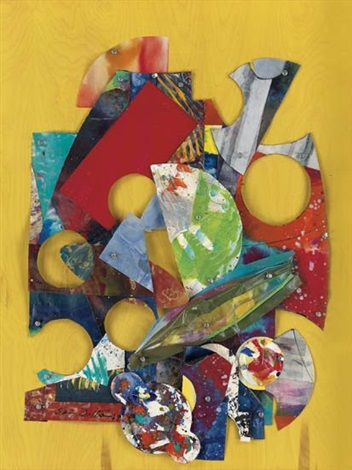 by yellow wall a collage by sam gilliam