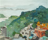 far view of jioufen by pang jun