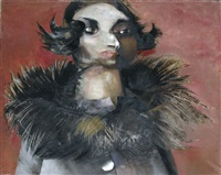 donna in pelliccia by giacomo porzano