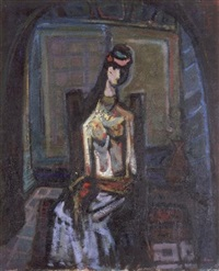 woman in a room by mordecai arieli