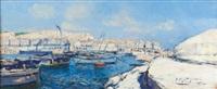 panorama du port d'alger by pierre faget-germain