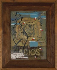 adios (+ 2 others, various sizes; 3 works) by manuel ocampo