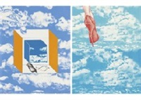magritte sky, other sky (portfolio of 3) by masuo ikeda