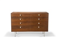 thin edge eight drawer chest by george nelson