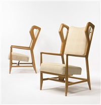 triennale armchairs (pair) by gio ponti