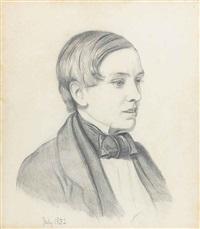 portrait of charles allston collins by william holman hunt
