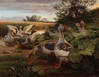 geese by hans ludvig smidth