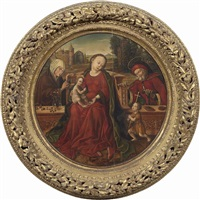 sacra famiglia con sant'anna e san giovannino by bernaert (barend) van orley