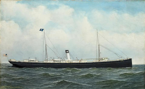the ship el rio at sea by antonio jacobsen