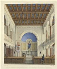 innere ansicht des evangelischen bethauses zu marienbad böhmen by eduard daege