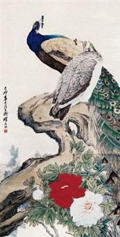 牡丹孔雀 by liu kuiling