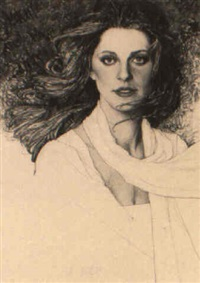 portrait of actress lindsay wagner by richard amsel