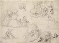 études de personnages et de bateaux by théodore géricault