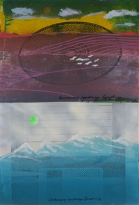 reacting, merging, recovering and containing (4 works from the landscape series) by iain baxter
