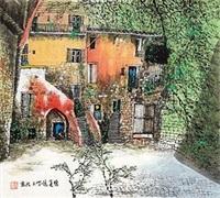 民居图 by liu maoshan