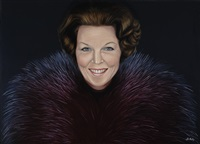 portrait of her majesty queen beatrix by ans markus