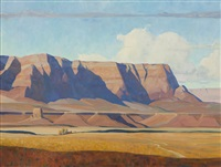 cliffs of the navajo by g. russell case