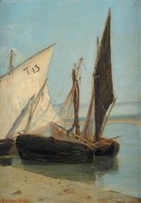 bateaux au port by gabriele smargiassi