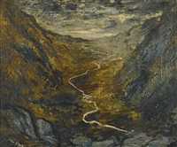 the river ogwen by john piper