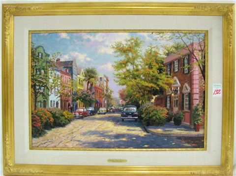 rainbow row charleston by thomas kinkade
