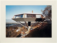 clemosphere house, designé par john lautner, hollywood by julius shulman