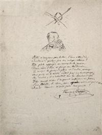 napoléon iii après sedan (+ autoportrait en chérubin à la pipe, verso) by paul verlaine