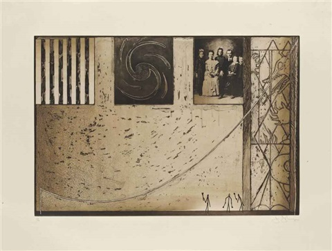 untitled family photo in black by jasper johns