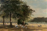 figures in a park by roy petley