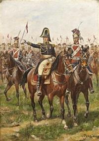 général donnant ses ordres au 1er régiment de lanciers de la garde impériale by paul emile léon perboyre