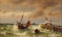 sailing-vessel by theodor alexander weber