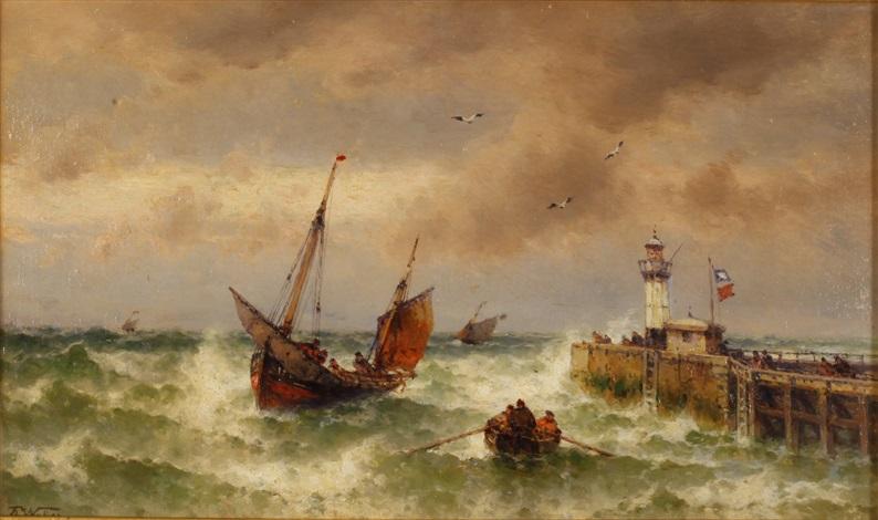 sailing vessel by theodor alexander weber