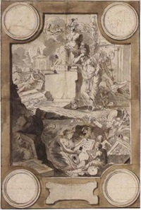 design for a frontispiece: an allegory of the decline of classical civilization by jan goeree