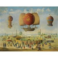 fête de ballons by victor philippe francois lemoine-benoit
