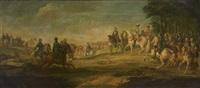 louis xv, le dauphin et son état-major à la bataille de fontenoy by pierre lenfant