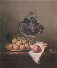 still life with fruit and compote by frederick s. batcheller