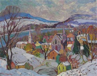 village landscape by fern isabel coppedge