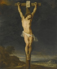 the crucifixion by flemish school-antwerp (17)