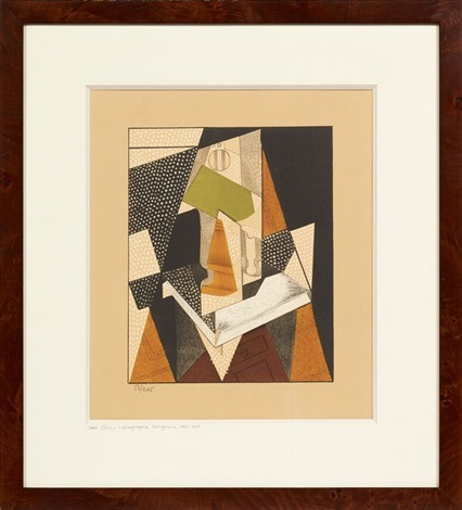 composition cubiste by juan gris
