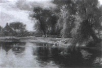 the village pond by william gilbert foster